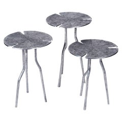 Franck Evennou, Lotus, Set of Three Nesting Tables, Aluminum, France, 2015