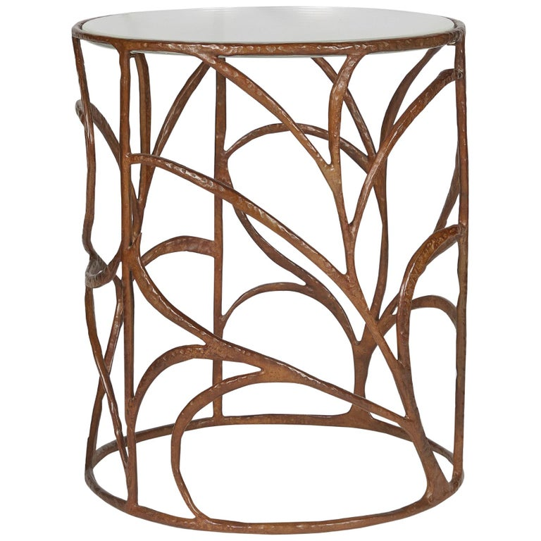 Ramages bronze and crystal side table, 2020