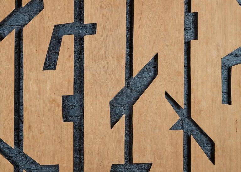 French Franck Evennou, Set of Five Wood Panels, France, 2020 For Sale