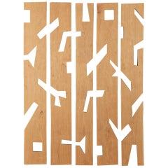Franck Evennou, Set of Five Wood Panels, France, 2020