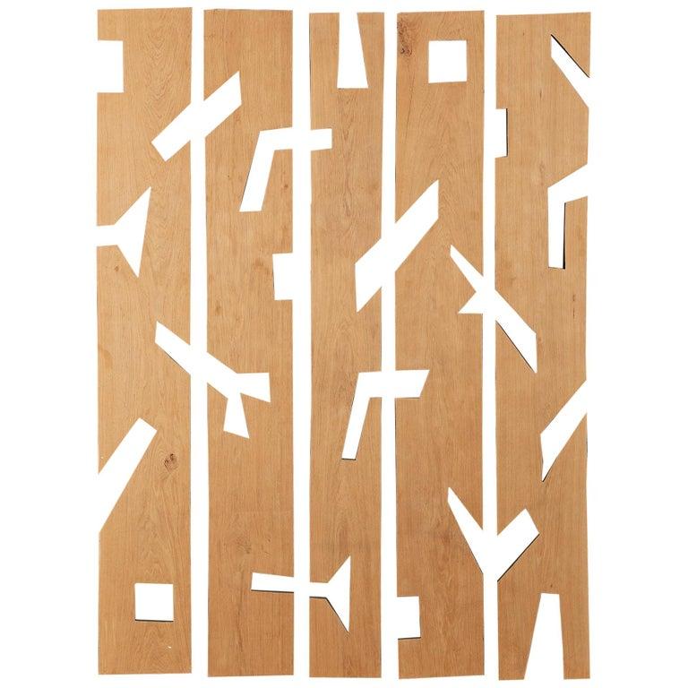 Franck Evennou, Set of Five Wood Panels, France, 2020 For Sale