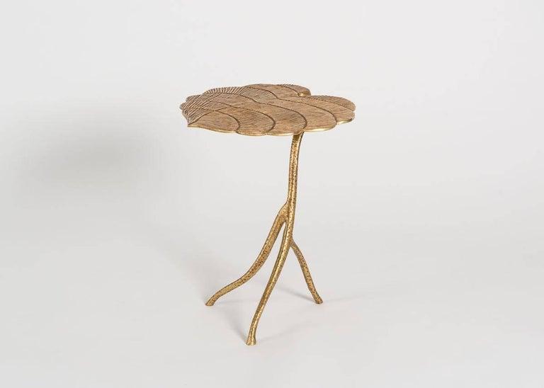 Contemporary Franck Evennou, Taro, Set of Three Nesting Tables, Bronze, France, 2018 For Sale