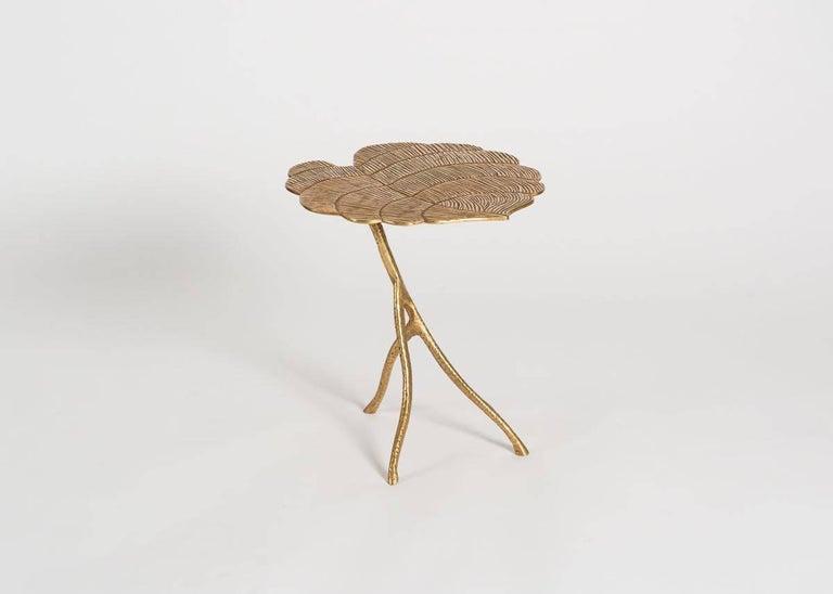 Franck Evennou, Taro, Set of Three Nesting Tables, Bronze, France, 2018 For Sale 1