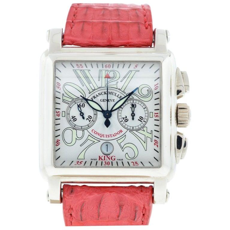 Franck Muller 119 18 Karat White Gold Conquistador Cortez 10000 K CC Men's Watch For Sale