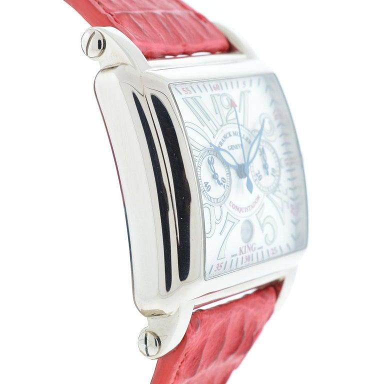 Franck Muller 119 18 Karat White Gold Conquistador Cortez 10000 K CC Men's Watch In Excellent Condition For Sale In Boca Raton, FL