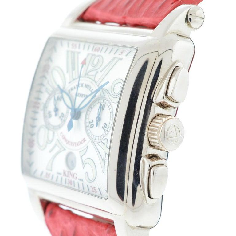 Franck Muller 119 18 Karat White Gold Conquistador Cortez 10000 K CC Men's Watch For Sale 1