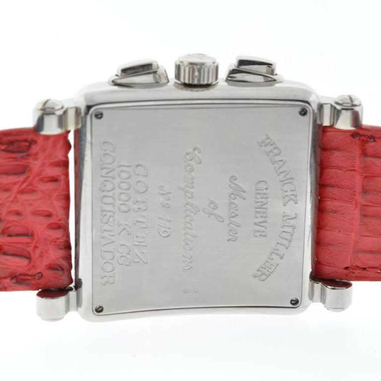 Franck Muller 119 18 Karat White Gold Conquistador Cortez 10000 K CC Men's Watch For Sale 5