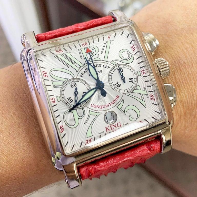 Franck Muller 119 18 Karat White Gold Conquistador Cortez 10000 K CC Men's Watch For Sale 6