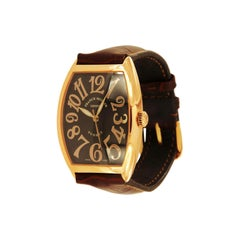 Franck Muller 18 Karat Rose Gold Curvex Sunset Watch 6850 SC