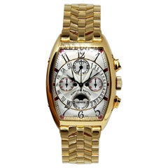 Franck Muller Bi-Retrograde Perpetual Moonphase Calendar Chronograph Wrist Watch