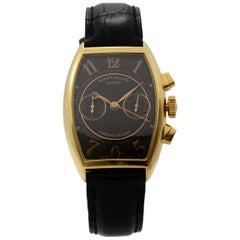 Franck Muller Casablanca 18K Yellow Gold Black Dial Hand Wound Men Watch 5850 CC
