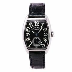 Franck Muller Casablanca 7502 S6 Herrenuhr mit Handaufzug Schwarzes Zifferblatt
