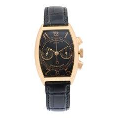 Franck Muller Casablanca Chrono 18k Gold Black Dial Handwind Men's Watch 5850 CC