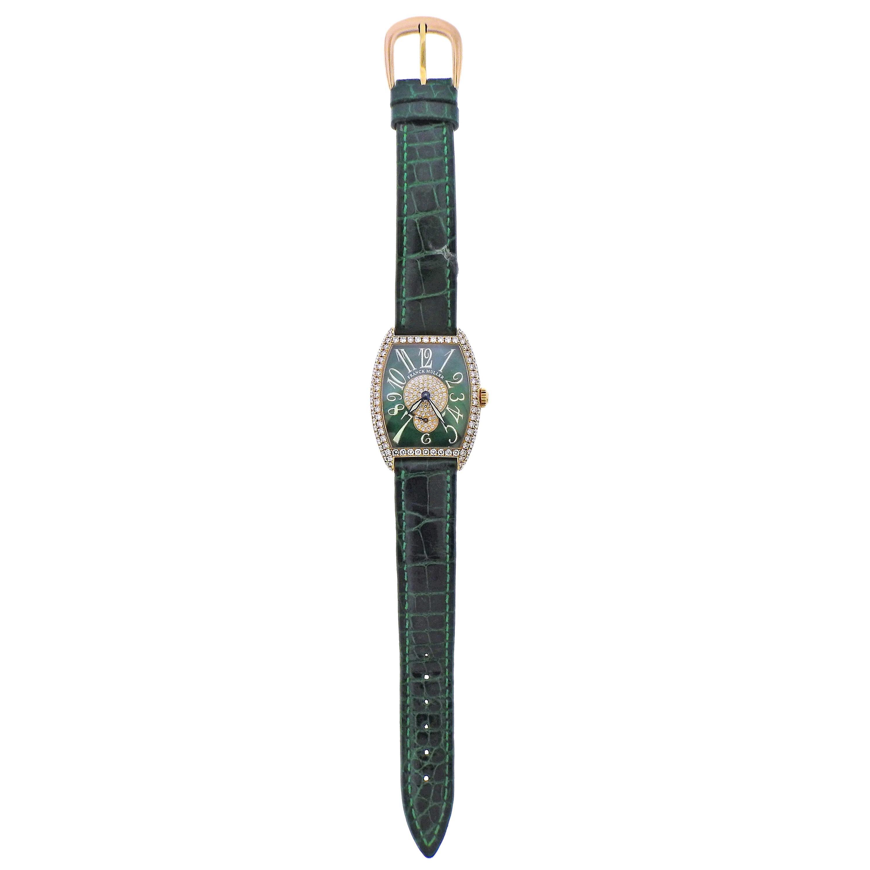 Franck Muller Casablanca Cintree Curvex Gold Diamond Watch 7502 S6D CD