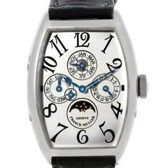 Franck Muller Casablanca Perpetual Calendar Platinum Watch 5850 QP