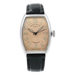 Franck Muller Casablanca Sahara Steel Salmon Dial Automatic Men's Watch 5850