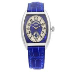 Franck Muller Cintree 18K Gold Blue Silver Dial Hand-Wind Ladies Watch 7502 S6
