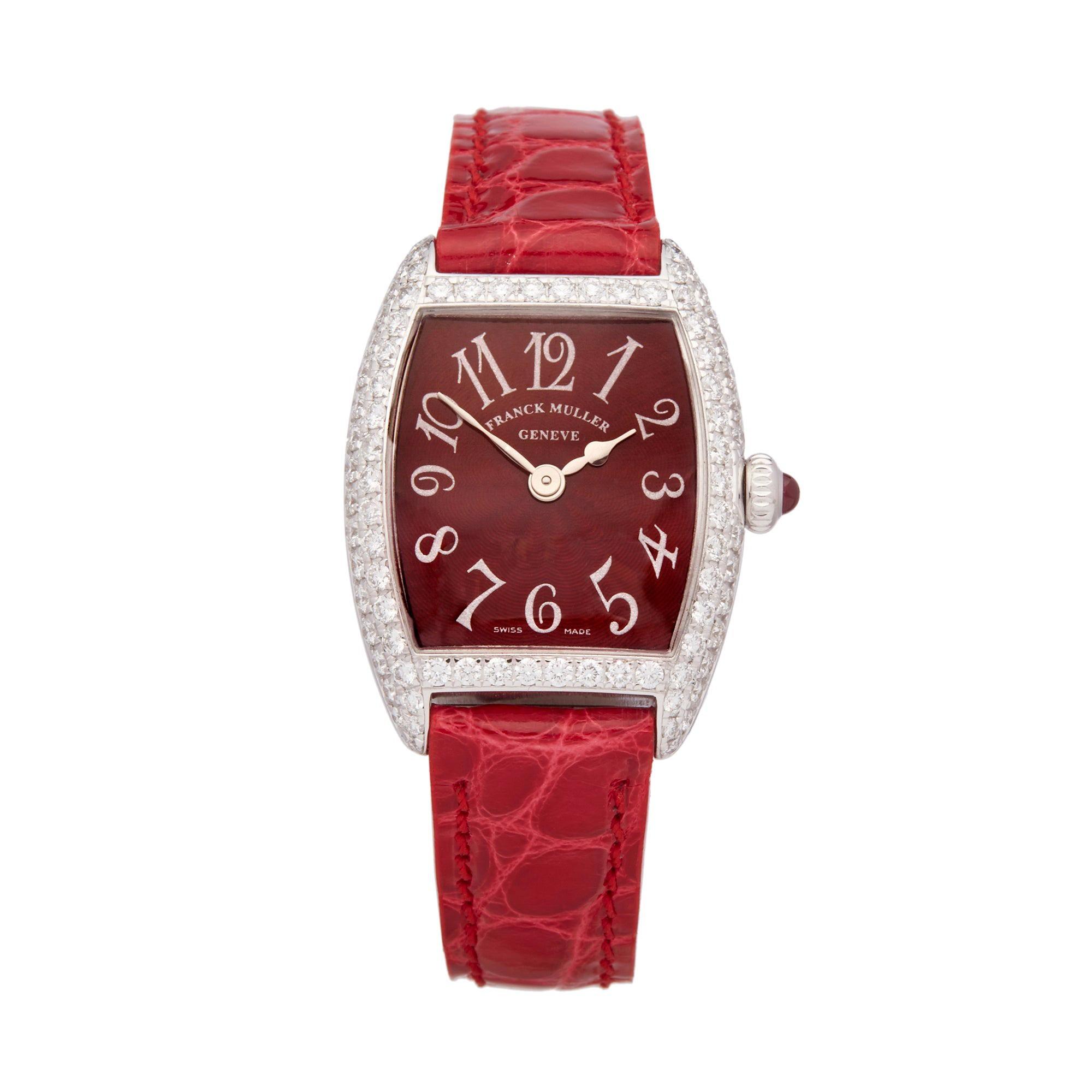 ddb0354d920c8 Franck Muller, Ladies Cintree Curvex Chronometro, 18 Karat Gold and  Diamonds For Sale at 1stdibs