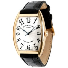 Franck Muller Cintree Curvex 2852 SC Unisex Watch in 18 Karat Yellow Gold