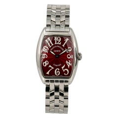 Franck Muller Cintree Curvex 7502 QZ, Black Dial, Certified and Warranty