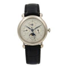 Franck Muller Classic Perpetual Calendar 18k Gold Silver Dial Men Watch 2800 QPR