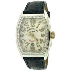 Franck Muller Conquistador 8002 LS C White Gold Diamond Watch 'O-6'