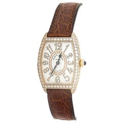 Franck Muller Curvex 1752 QZ, Silver Dial, Certified and Warranty