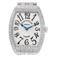 Franck Muller Curvex 7502 QZDP, Silver Dial, Certified and Warranty