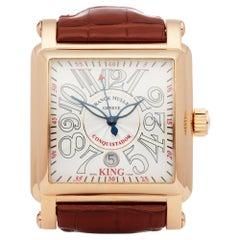 Franck Muller King Conquistador Cortez 10000K Men Rose Gold Watch