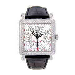 Franck Muller Ladies White Gold Diamond Cortez Conquistador automatic Wristwatch