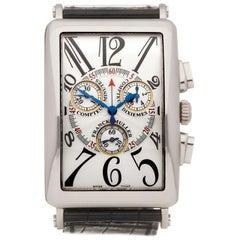 Franck Muller Long Island Chronograph 18 Karat White Gold 1000 CC QZ
