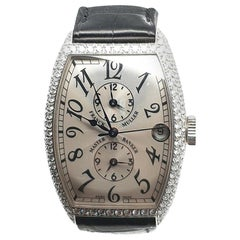 Franck Muller Master Banker 18 Karat White Gold and Diamonds 5850 MBD