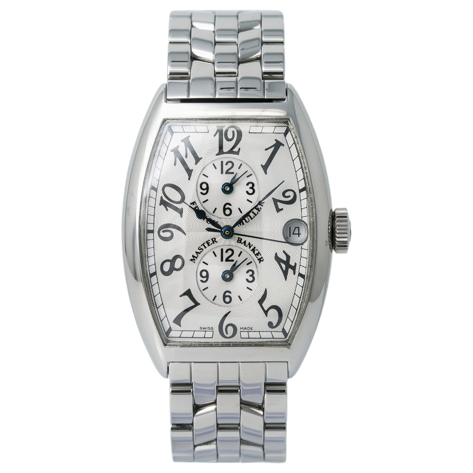 Franck Muller Master Banker 5850 Men's Automatic Watch Stainless Steel