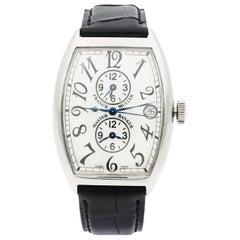 Franck Muller Master Banker Steel Silver Dial Time Men's Watch 6850 MB
