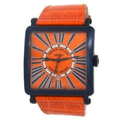 Franck Muller Master Square 6000 K SC DT BL, Orange Dial