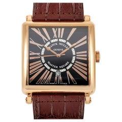 Franck Muller Master Square Black Dial Yellow Gold Watch 6000 K SC DT