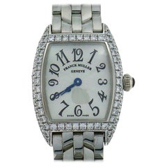 Franck Muller Mini Cintree Curvex Wristwatch in White Gold and Diamond Box Paper