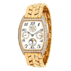 Franck Muller Perpetual Calendar 18k Yellow Gold Women's Watch Manual 7500 QPD