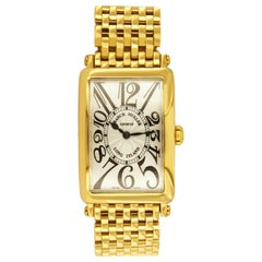 Franck Muller Rare Long Island 18 Karat Yellow Gold Watch 950QZ