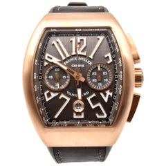 Franck Muller Rose Gold Vanguard Chronograph Automatic Wristwatch