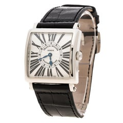 Franck Muller Silver White Stainless Steel Master Square Women's Wristwatch 33 m