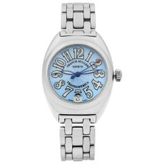 Franck Muller Transamerica Stainless Steel Blue Dial Quartz Ladies Watch 2000L