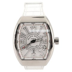 Franck Muller Vanguard Automatic Watch Stainless Steel and Alligator with Rubber