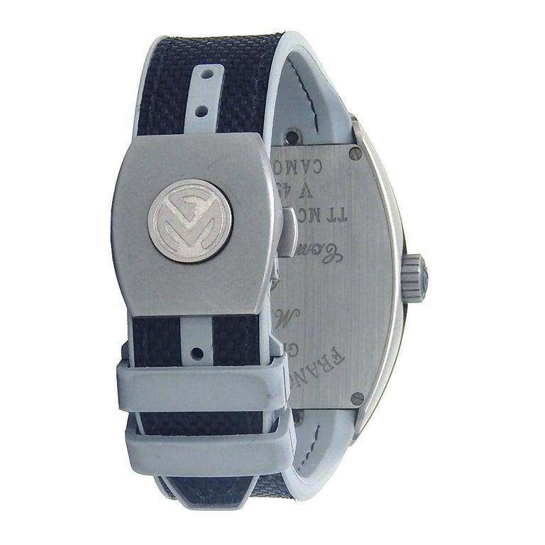 Franck Muller Vanguard Chrono V 45 SC DT, Grey Dial, Certified For Sale 1