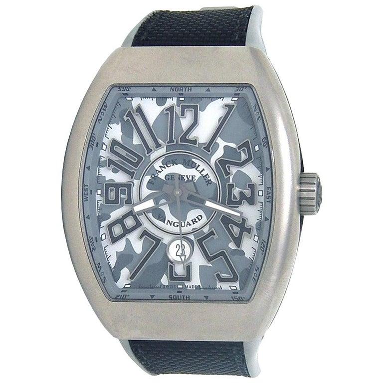 Franck Muller Vanguard Chrono V 45 SC DT, Grey Dial, Certified For Sale
