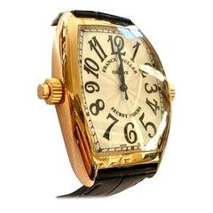 Franck Muller, Watch 7880 SE H II Secret Hours, 18 Karat Rose Gold Leather Strap