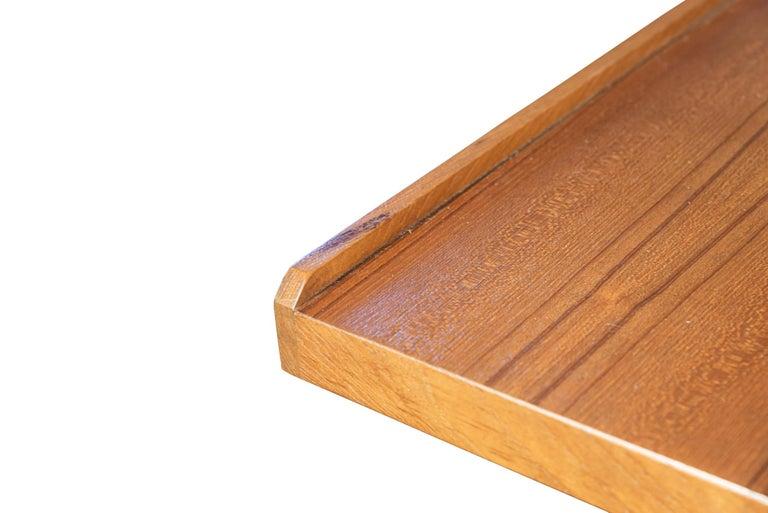 Franco Albini (1905-1977), Model 840 Stadera desk, Wood, metal and aluminum, Edition Poggi, Italy, circa 1954.  Measures: Height 76 cm, width 143.5 cm, depth 83 cm.