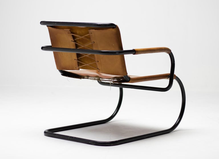 Mid-Century Modern Franco Albini 1933 Triennale Lounge Chair For Sale