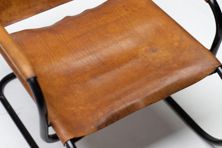Enameled Franco Albini 1933 Triennale Lounge Chair For Sale