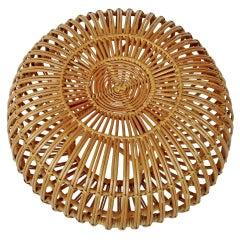 Franco Albini and Franca Helg Italian Rattan and Bamboo Vintage Woven Stool